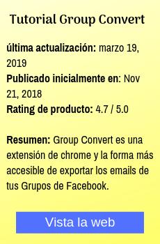 extraer correos de grupos facebook